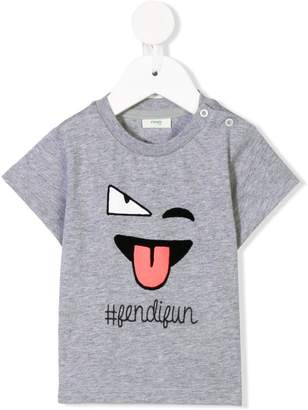 Fendi Kids emoji print T-shirt
