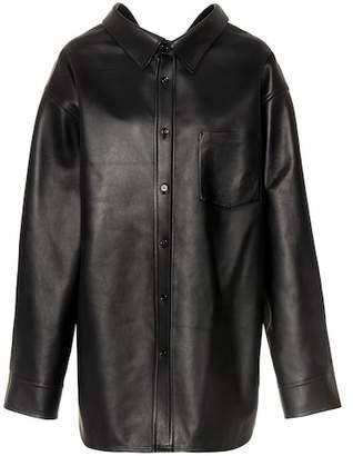 Balenciaga Leather shirt