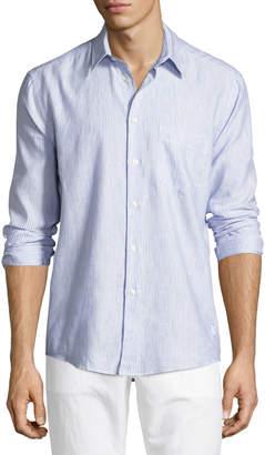 Vilebrequin Striped Linen-Cotton Shirt