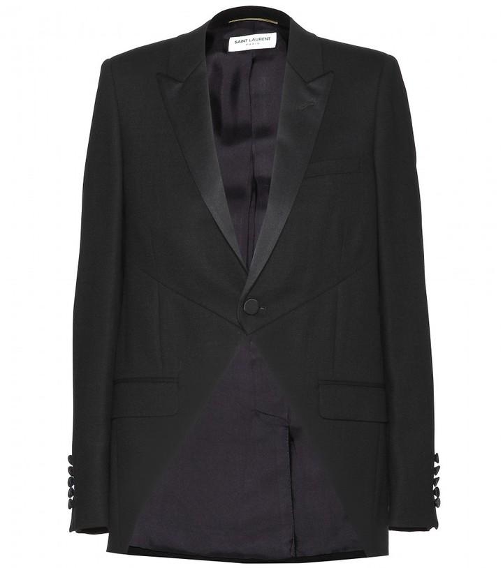 Saint Laurent Wool-crepe blazer