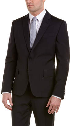 Roberto Cavalli Slim Fit Wool Suit With Flat Front Pant