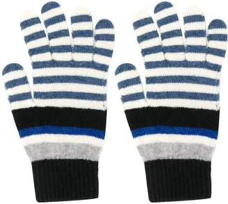 Paul Smith striped knitted gloves