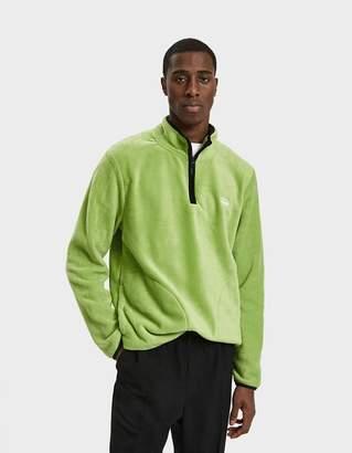 Stussy Polar Fleece Half Zip Pullover in Lime