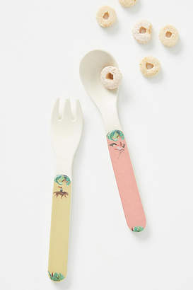 Catchii Homeware Tropical Bamboo Melamine Kids Flatware Set