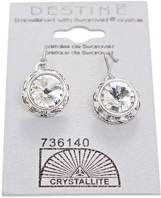 Crystallite Crystal Rhinestone Rivoli Dangle Earring