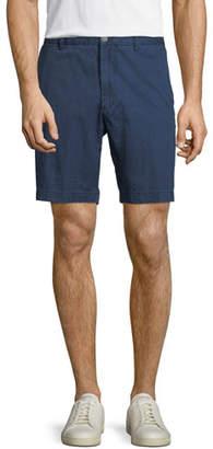 Peter Millar Pin-Dot Flat-Front Floater Shorts