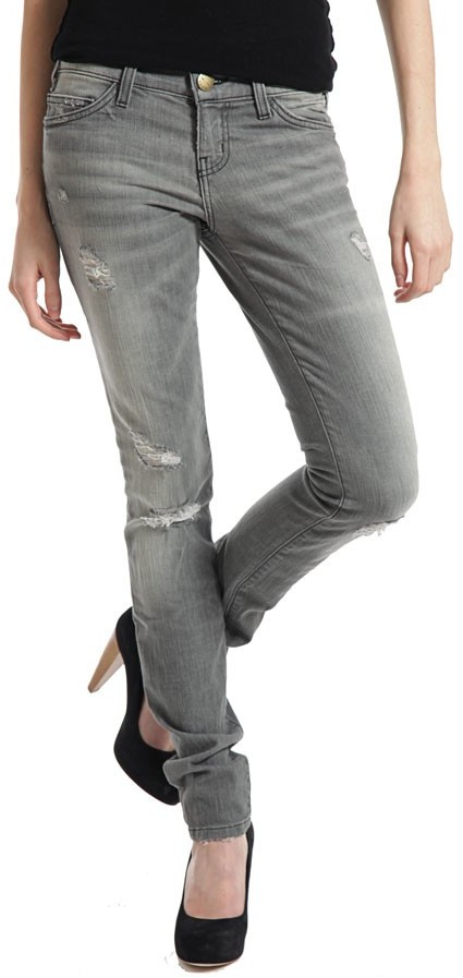 Current/elliott Skinny Jeans In Pale Grey