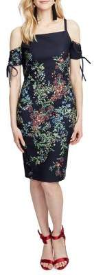 Rachel Roy Rosetta Floral Cold-Shoulder Dress
