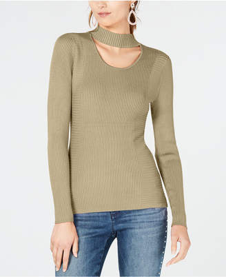 INC International Concepts I.N.C. Cutout Turtleneck Sweater, Created for Macy's