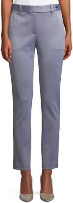 Theory Slim Straight-Leg Linear Knit Trousers