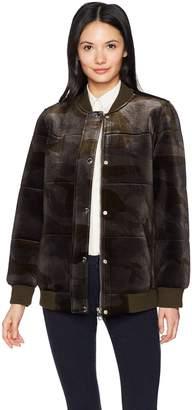 Members Only Women's Velvet Bomber Jacket