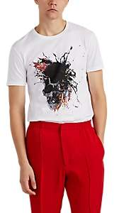 Alexander McQueen Men's Exploding-Skull Cotton T-Shirt - White
