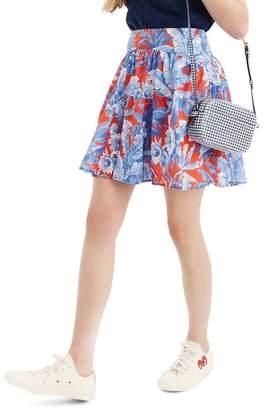 J.Crew J. Crew Ratti® Rio Floral Tiered Miniskirt