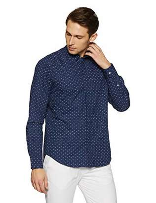 76a916ea7 Casual Terrains Men s Tailored Slim-Fit Switch Printed Shirt with Hidden  Placket