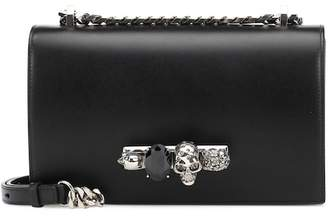 Alexander McQueen Skull crystal shoulder bag