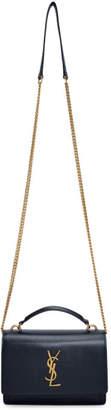 Saint Laurent Navy Sunset Chain Wallet Bag