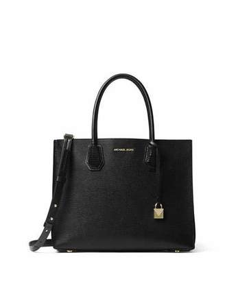 MICHAEL Michael Kors Mercer Large Convertible Tote Bag, Black