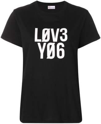 RED Valentino love you print T-shirt