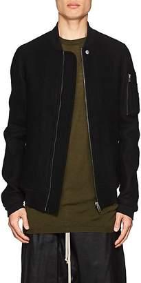 Rick Owens Men's Boiled Virgin Wool Bomber Jacket