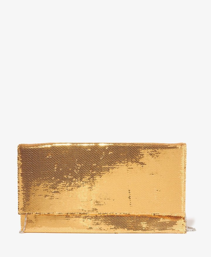 Forever 21 Sequined Foldover Clutch