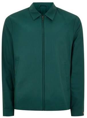 Topman Mens Green Teal Harrington Jacket