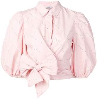 Ganni puff-sleeve blouse