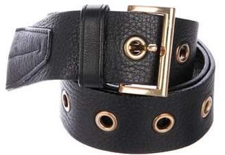 Prada Leather Grommet-Accented Belt