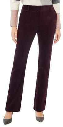 Principles Dark Purple Corduroy Bootcut Trousers