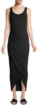 Bailey 44 Dishdasha Scoop-Neck Side-Ruched Jersey Dress