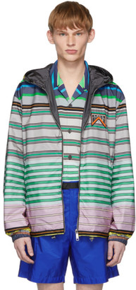 Prada Reversible Multicolor Striped Nylon Jacket