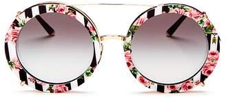 Dolce & Gabbana Women's Oversized Round Sunglasses, 63