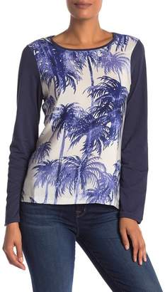 Tommy Bahama Palms Long Sleeve Front Crew Neck Shirt