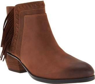 Clarks Artisan Nubuck Fringe Ankle Boots - Gelata Flora