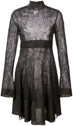 Roberto Cavalli high neck swing dress