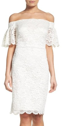 Women's Laundry By Shelli Segal Off The Shoulder Lace Dress $195 thestylecure.com