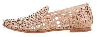 Loeffler Randall Leather Laser Cut Loafers
