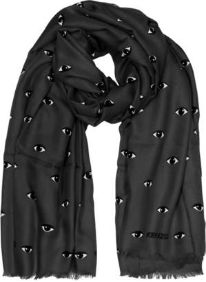 Kenzo Modal and Silk Printed Eye Wrap