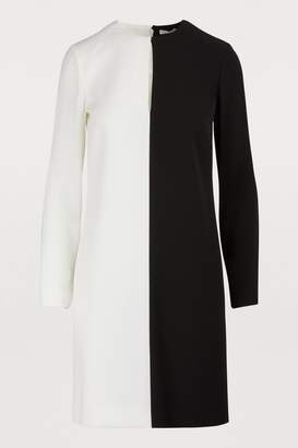Givenchy Two-tone long-sleeved dress