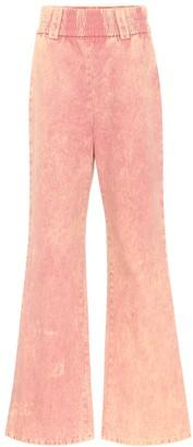 Miu Miu High-rise flared jeans