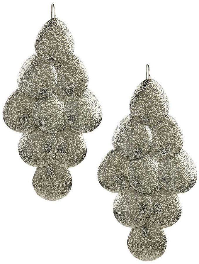 Textured Rain Earrings