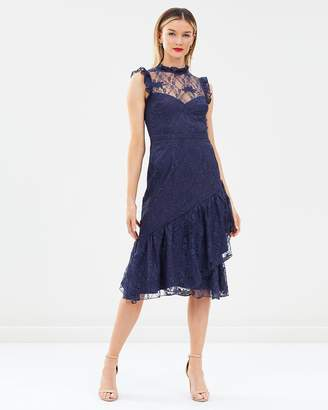 Cooper St Peppermint Lace High Neck Dress