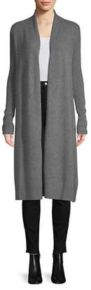 Lord & Taylor Ribbed Cashmere Duster Cardigan