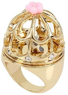Betsey Johnson Marie Antoinette Birdcage Ring