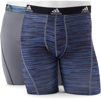 Men's adidas Climalite Performance 2-Pack Boxer Briefs $30 thestylecure.com