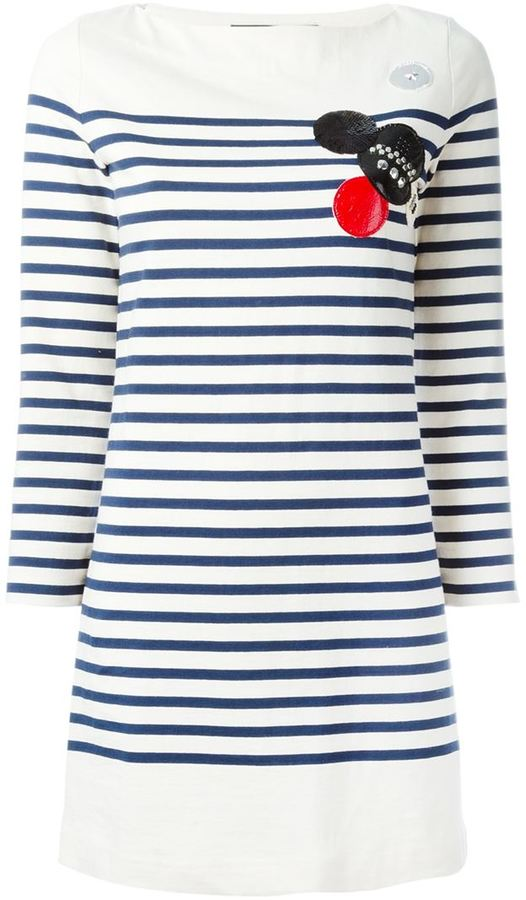 Marc By Marc Jacobs patched breton stripe dress