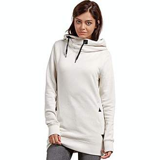 Volcom Women's Tower Pullover Heather Fleece Hooded Baselayer Sweatshirt