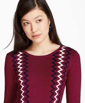 Brooks Brothers Zigzag Cotton Sweater