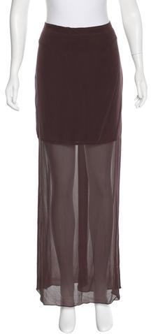 Alexander WangT by Alexander Wang Silk Maxi Skirt