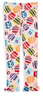 Fendi Toddler's, Little Girl's & Girl's Fur Monster-Print Leggings