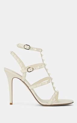 Valentino Women's Rockstud Leather Multi-Strap Sandals - White
